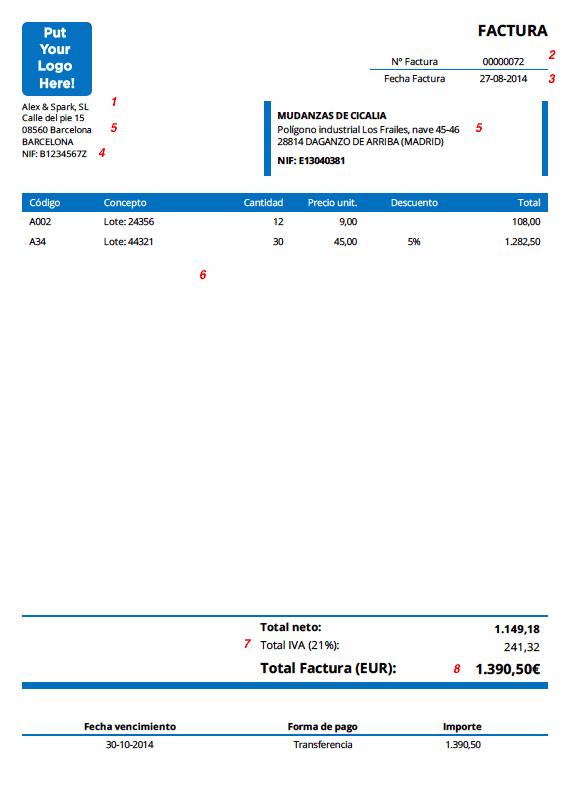 facturadirecta cómo hacer una factura
