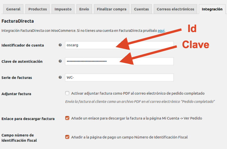 Plugin de FacturaDirecta para Woocommerce